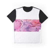 Watercolor Map of Tennessee,USA in Pink and Purple - Giclee Print of My Own Watercolor Painting Graphic T-Shirt