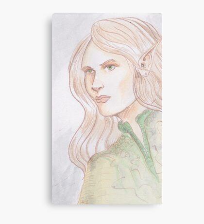Watercolor Elf Canvas Print