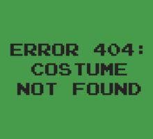404 Error : Costume Not Found by DesignFactoryD
