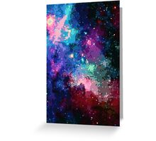 Pixel Psychedelic Nebula Greeting Card