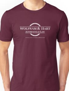 Wolfram & Hart Attorneys at Law Unisex T-Shirt