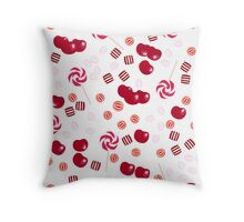 Candy . The taste of cherry . Throw Pillow
