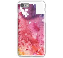 Watercolor Map of Utah, USA in Orange, Red and Purple - Giclee Print of my Own Painting iPhone Case/Skin