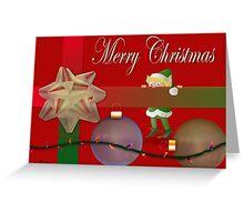 Peek a Boo Elf Greeting Card