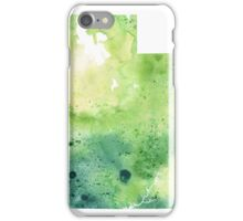 Watercolor Map of Utah, USA in Green - Giclee Print My Own Watercolor Painting iPhone Case/Skin