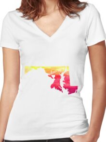 Silver Spring Women's Fitted V-Neck T-Shirt