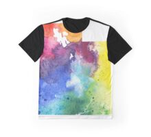 Watercolor Map of Utah, USA in Rainbow Colors - Giclee Print of My Own Watercolor Painting Graphic T-Shirt