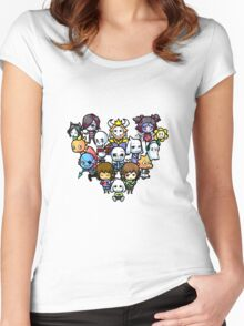 Chibi Undertale Characters Women's Fitted Scoop T-Shirt