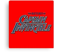 Captain Invincible (Blue) Canvas Print