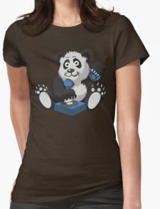 DJ Panda Womens Fitted T-Shirt