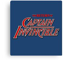 Captain Invincible (Red) Canvas Print