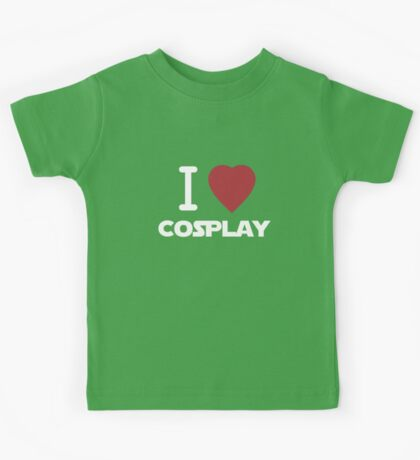 I Heart Cosplay White Text   (Clothing & Stickers)  Kids Tee