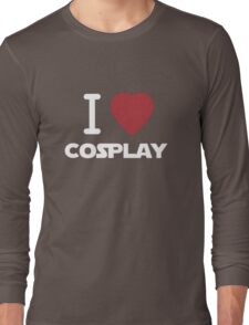 I Heart Cosplay White Text   (Clothing & Stickers)  Long Sleeve T-Shirt