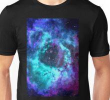 Pixel Blue Purple Nebula Unisex T-Shirt