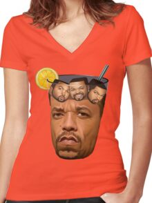 Just Some Ice Tea and Ice Cubes Women's Fitted V-Neck T-Shirt