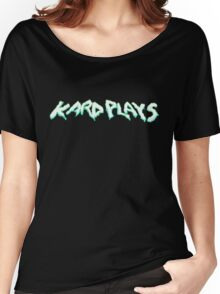 kardplays Green/Blue Women's Relaxed Fit T-Shirt