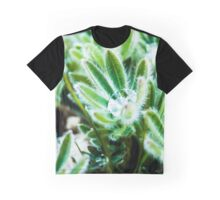 Water Drop on Lupin Leaves Graphic T-Shirt
