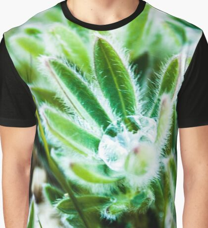 Lupine Leaves Photography Print Graphic T-Shirt