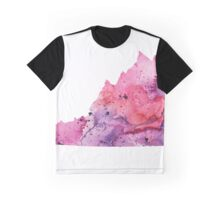 Watercolor Map of Virginia,USA in Pink and Purple - Giclee Print of My Own Watercolor Painting Graphic T-Shirt