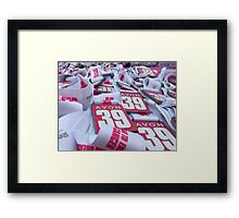 For a Wonderful Cause... Framed Print
