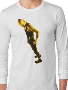 Leather 03 Toned Yellow Long Sleeve T-Shirt