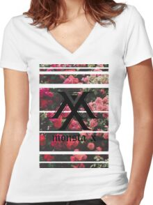 Monsta X: Aesthetic Logo Women's Fitted V-Neck T-Shirt