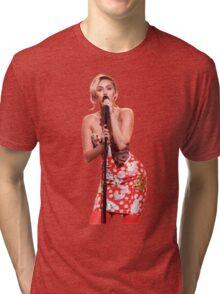Miley Cyrus performing on Jimmy Fallon  Tri-blend T-Shirt