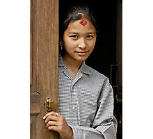 Nepali girl Photographic Print