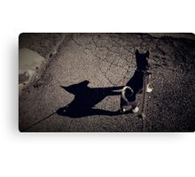 Shadow of the Dog Canvas Print