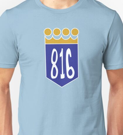 816 Area Code Kansas City Royals Unisex T-Shirt