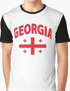 Georgia Flag in Georgia Map Graphic T-Shirt