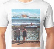 People at Southampton Eastern Docks viewing ship Unisex T-Shirt