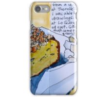 Orange and almond cake and a green smoothie iPhone Case/Skin