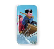 children snow sleigh ride Samsung Galaxy Case/Skin