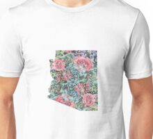 Floral Arizona State Unisex T-Shirt