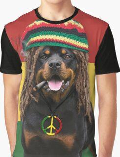Rasta Dog Graphic T-Shirt