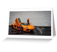The iconic Lamborghini Flagship Vertical Doors! Greeting Card