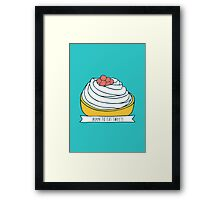 Born to eat sweets Framed Print