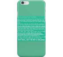 the killers quotes iPhone Case/Skin