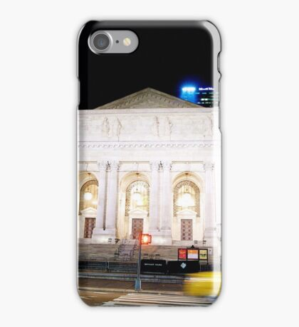 New York City Library, night iPhone Case/Skin