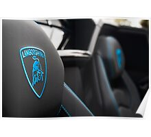 Color Matched Stitching in this Blu Cepheus Aventador Poster