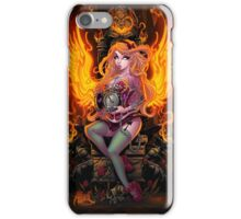 Burning Angel Pin Up iPhone Case/Skin