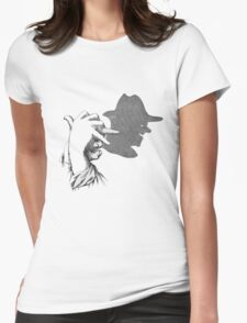 Hands Shadow tee design Womens Fitted T-Shirt