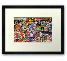 Halloween Ad Collage Framed Print