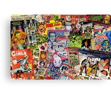 Halloween Ad Collage Canvas Print