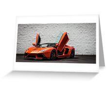 Zoomed In - Custom Vorsteiner Edition Lamborghini Aventador! Greeting Card