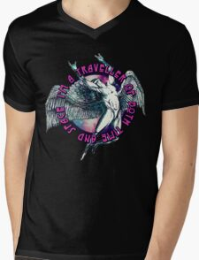 ICARUS THROWS THE HORNS - space traveller Mens V-Neck T-Shirt