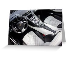 Q-Citura Leather in the Aventador Cockpit Greeting Card