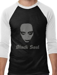 Black Soul Men's Baseball ¾ T-Shirt