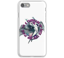 ICARUS THROWS THE HORNS - space traveller iPhone Case/Skin